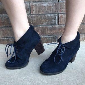 Navy Blue Booties